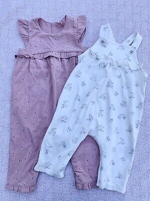 Mothercare Baby Girl Dungarees Bundle Age 3-6 Months BNWOT • 3£