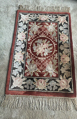 Vintage Rug With Tassels, Chinese Style • 10£