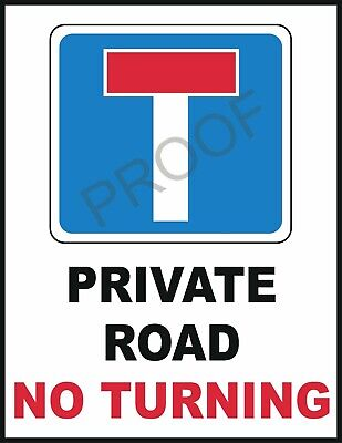 Private Road No Turning #0937 Warning Safety Sign Metal Vehicle 10 X 7.7  • 5.95£