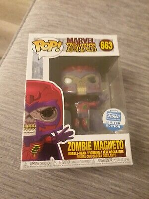 Funko Pop Zombie Magneto Figure Funko Shop Exclusive #663 In Hand • 35£