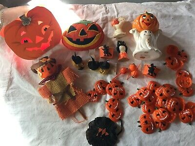 $ CDN38.31 • Buy LOT Vintage Halloween Lefton Chenille Witches Candy Cup Hallmark JOL Ghost Witch