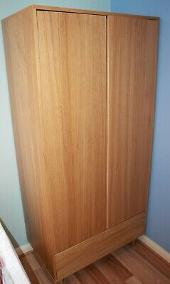 Marks And Spencer Alto Double Wardrobe With Drawer, Shelf And Rail, Oak Veneer • 126£
