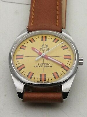Vintage Titus Shock Proof 17 Jewels Swiss Made Watch • 28£