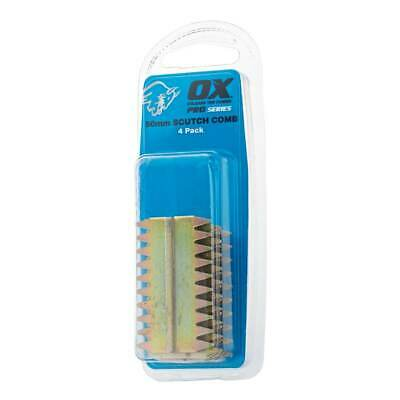 £8.99 • Buy OX Pro 38mm Scutch Combs – 4 Pack Chisels Blades OX-P080738