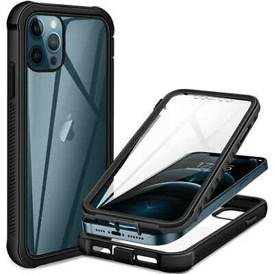£3.95 • Buy Full Body Clear Hybrid Shockproof 360 Case For IPhone 11 12 Pro Max 13 XR 8 7 SE