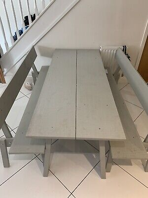 Wooden Kitchen Table And Benches • 103£