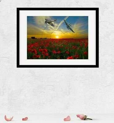£3.99 • Buy Spitfire Print Poppy Rememberance Day Supermarine Picture Photo Poster Size A4