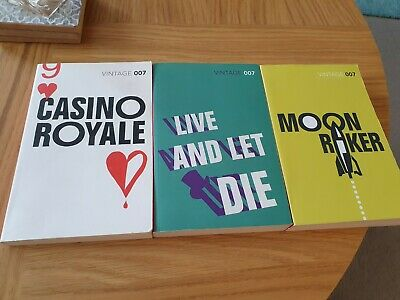 Ian Fleming - Casino Royale + Live And Let Die  + Moonraker Paperback James Bond • 7£