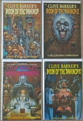 IDW Clive Barker´s Hellraiser Book Of The Damned 1 - 4 Complete Set Very Rare • 70£