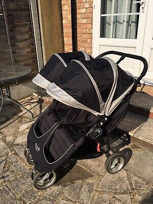 Baby Jogger City Mini Double Pushchair - Black • 150£