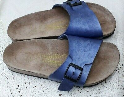 Birkenstock Papillio Blue Textured Birko Flor Catalina - Uk 4.5, Eur 37 Regular • 29.99£