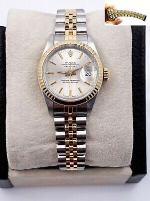$ CDN5147.05 • Buy Rolex Ladies Datejust 69173 Silver Dial 18K Yellow Gold Stainless Steel