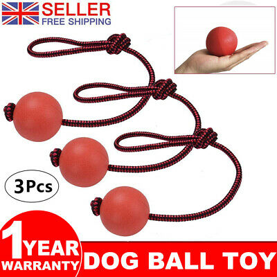 £10.49 • Buy Rubber Ball Pet Dog Toy Safe Solid Play Fetch Bite Toys Training Chew 3 Packs