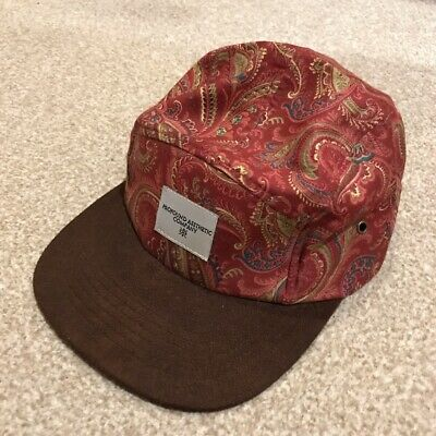 Profound Aestbetic 5 Panel Cap / Hat - Adjustable - Red - Paisley / Floral. RARE • 10£