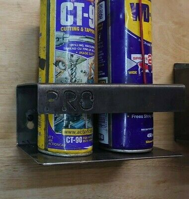 PRO Spray Paint Can Rattle Can Holder Twin Aerosol Wall Mount Workshop WD-40  • 13.50£