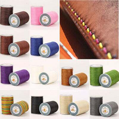$2.99 • Buy 90m×0.8mm Flat Waxed Cord Sewing Rope DIY Crafts Threads Stiching Cords 1 Roll