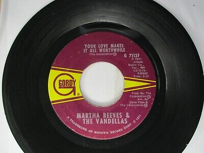 Martha Reeves & The Vandellas In And Out Of My Life 45 Gordy 1971 • 4.52£