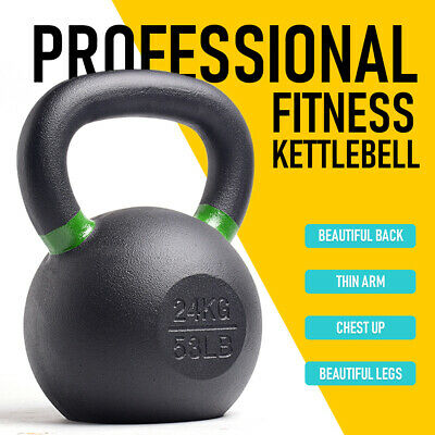 AU69 • Buy Cast Iron Kettlebells Weightlifting Exercise Home Gym Workout Dumbbell Fitness