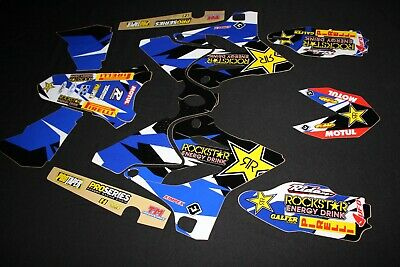 AU119 • Buy Yamaha Yz125-yz250 2015-2020  Rockstar Flu Mx Graphics Kit Sticker Kit Stickers