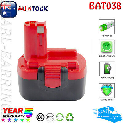 AU30.99 • Buy 14.4V 3.6Ah Ni-mh Battery For Bosch BAT038 BAT040 BAT041 BAT140 PSR1440 PST 14.4