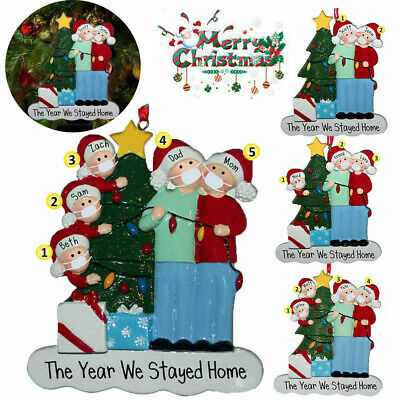 2020 New Christmas Tree Ornament Quarantine Family Xmas Lockdown Decoration UK • 2.89£