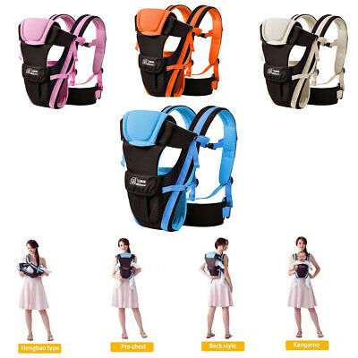 Ergonomic Infant Baby Carrier With Hip Seat Adjustable Wrap Sling Backpack Bag E • 15.88£