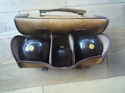 Pair Of Vintage Bowling Bowls Jack And Case • 30£