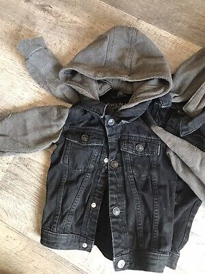 Twin Boys Age 2-3 Demin Hooded Jackets. My Boys Wore Till Age 3 And Half. (x2) • 1.20£