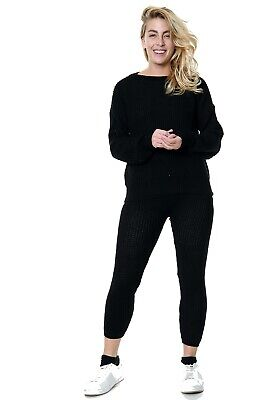 Lounge Wear Womens Set 2 Piece Co Ord Tops And Bottom Jogger Tracksuits QS43 • 16.99£