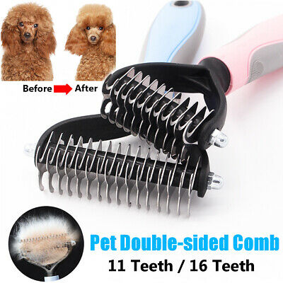 Professional Pet Dog Cat Comb Brush Grooming Undercoat Rake Comb Dematting Tool • 5.69£