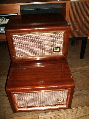 Vintage (1950`s) HMV Record Player With Separate Speaker, Garrard 209 Deck. • 25£