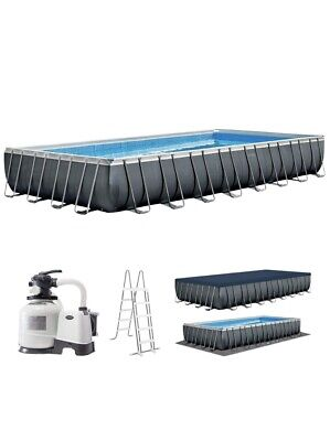 INTEX ULTRA XTR 24ft X 12ft X 52  ABOVE GROUND SWIMMING POOL WITH SAND FILTER • 1,750£