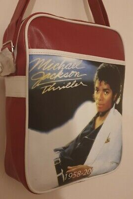 Michael Jackson Burgundy Shoulder And  Cross Body  Bag.perfect For A4. Unisex.   • 14.95£