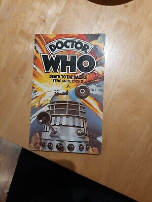 Doctor Who Death To The Daleks By Terrance Dicks (1982, Target Paperback) • 1.40£