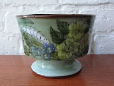 Vintage Chelsea Pottery England Footed Bowl / Planter Signed HM •●  • 19.99£