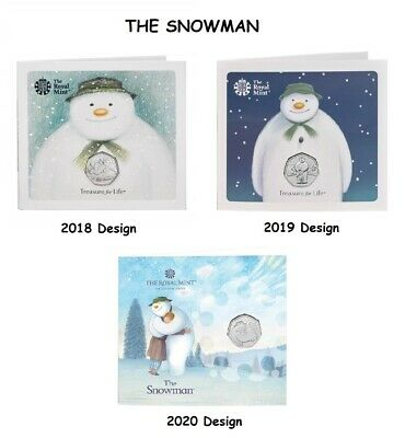 £19.95 • Buy 2018 2019 2020 The Snowman 50p Coin Fifty Pence Coins Uncirculated Royal Mint