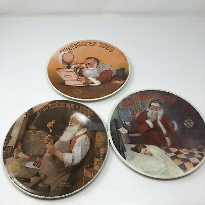 $ CDN28.61 • Buy *Norman Rockwell Christmas Plates - 1984 1985 1986  Knowles Limited Ed Vintage