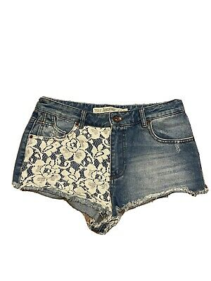 Zara Womans  High Waised Shorts Lace Size 36 Eur • 3.25£