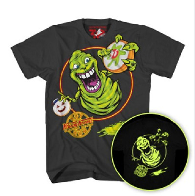 $24.99 • Buy Ghostbusters Krispy Kreme Slimer Glow In The Dark Men's T-Shirt Large
