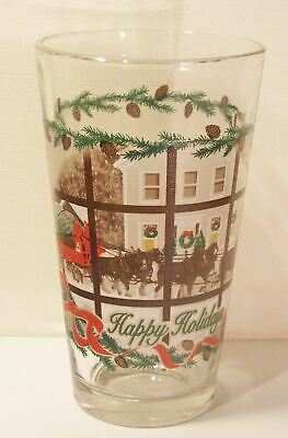 $ CDN18.87 • Buy Budweiser Christmas Clydesdales Happy Holidays Beer Glass Tumbler Tree Wagon
