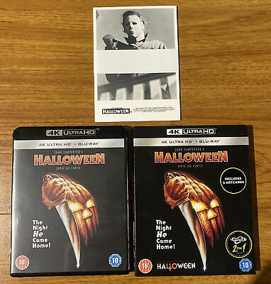 AU28 • Buy Halloween (1978) (4K Ultra HD + Blu Ray, 2 Disc Set) Slipcase Cover And Artcards