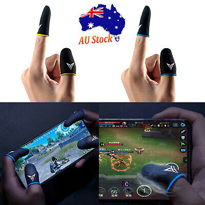 AU14.86 • Buy For PUBG Phone Game Sweat-proof Fingers Gloves Touch Screen Thumbs Cover Sleeve
