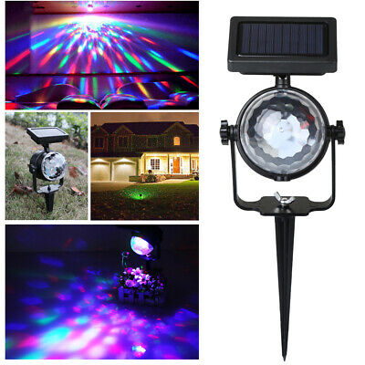 Solar Spot Lights LED Colour Changing Projection Stake Garden Light Outdoor • 11.99£