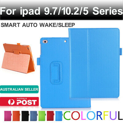 AU15.68 • Buy Stand Flip Cover For IPad 5/6/7/8/9th Gen10.2 2021 IPad 9.7 Air3/pro10.5 PU Case