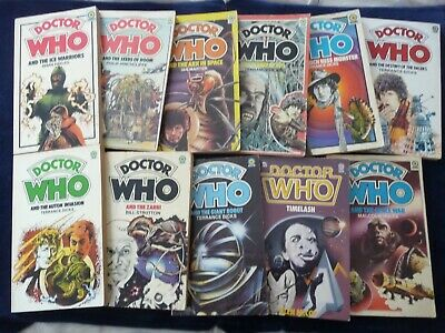 11 Dr Who Paperback Books From 7 Different Authors • 10£