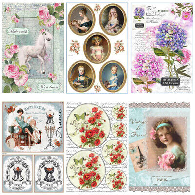 £2.99 • Buy AistCraft Collection A - Decoupage Rice Paper A4 Sheet - VARIOUS DESIGNS