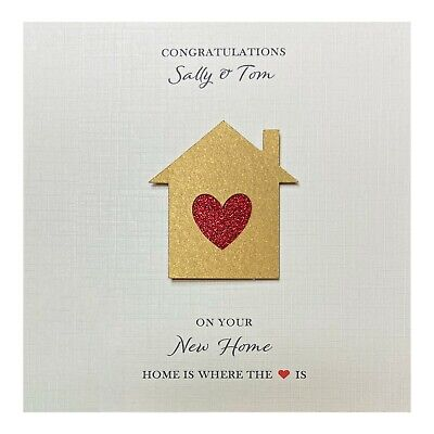 New Home Card Handmade Personalised • 4.25£
