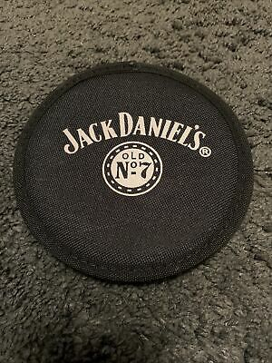 New Rare Jack Daniels Round Zip Up CD Case • 5£