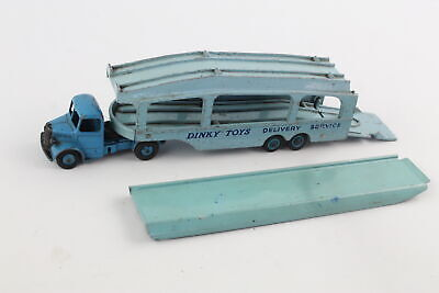 Vintage DINKY Bedford Pullmore Car Transporter W/ Ramp Diecast Toy Model 582/794 • 10£
