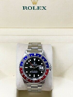 $ CDN16407.50 • Buy Rolex GMT Master 16700 Pepsi Red And Blue Stainless Steel With Box MINT